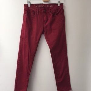 American Eagle Outfitters red skinny jeans 29/30